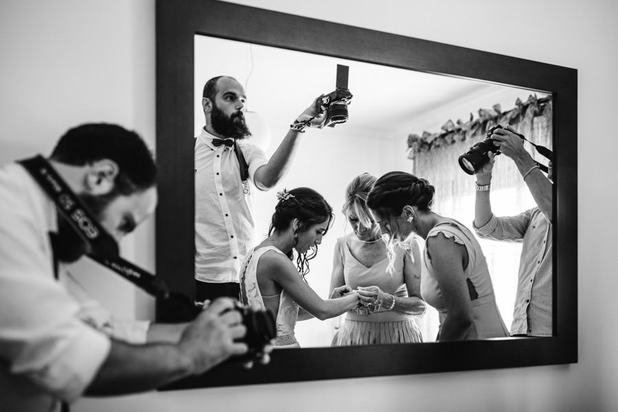 wedding photography bride getting ready making of