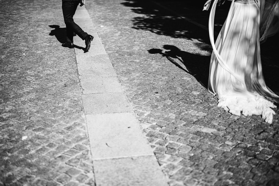 wedding photography bride and groom shadows