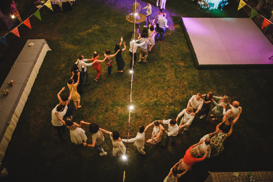 wedding photography dance floor from above